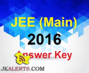 JEE MAIN 2016 Answer Key of all series
