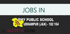 JOBS IN ARMY PUBLIC SCHOOL UDHAMPUR , APS
