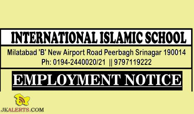 jobs in International islamic school