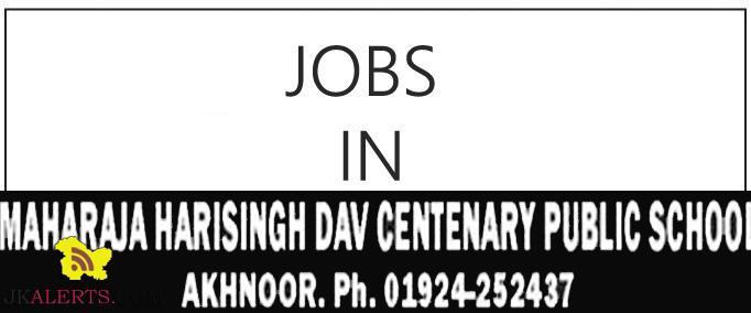 Jobs in Maharaja Harisingh DAV Centenary Public School Akhnoor