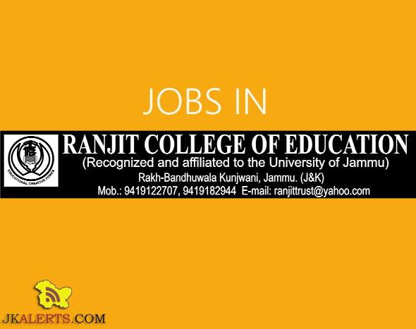 Jobs in ranjit college of education