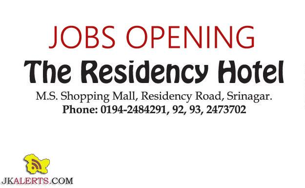 MANAGER (House Keeping), STORE KEEPER, FRONT DESK EXECUTIVE, RESERVATION EXECUTIVE