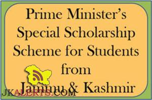 Facilitation centers for Prime Ministers Special Scholarship Scheme for students Registration open 2016-17