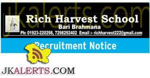 ich harvest school jobs in jammu