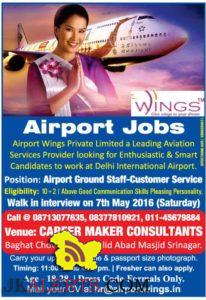 Airport Ground Staff-Customer Service Jobs in Airport Wings Private Limited