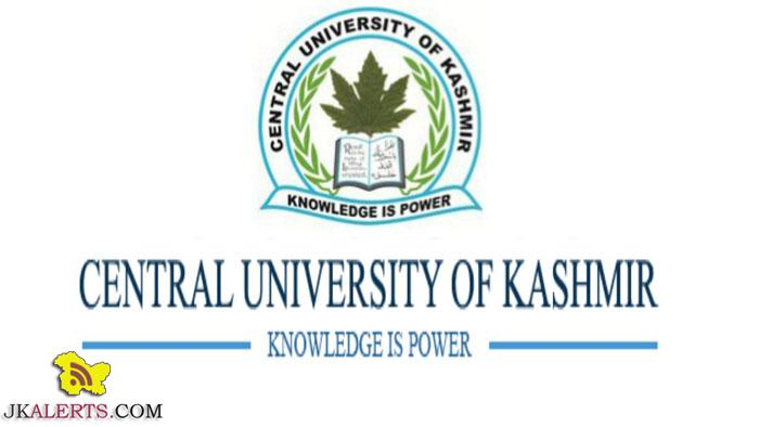 Central University of Kashmir, e-Content ,various Programmes.Admsision in Central University of Kashmir
