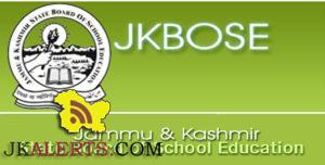 JKBOSE Class 11th Result winter zone Jammu.
