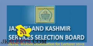 JKPSC Written examination for Lecturer 10+2 of School Education Department