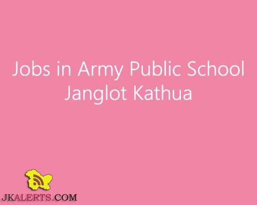 Jobs in Army Public School Janglot Kathua