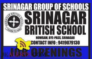 TEACHING NON TEACHING JOBS IN SRINAGAR BRITISH SCHOOL