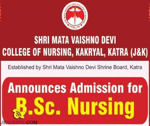 B.Sc. Nursing Admission Open for 2016 Shri Mata Vaishno Devi college nursing katra