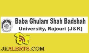 Baba Ghulam Shah Badshah University Jobs Recruitment 2021.