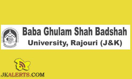 Baba Ghulam Shah Badshah University Common Entrance Test CET for B.Tech 2016-17