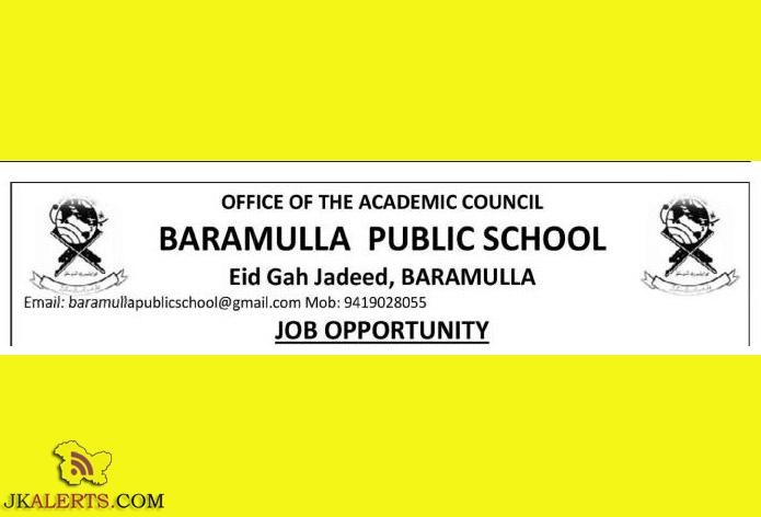 JOBS IN BARAMULLA PUBLIC SCHOOL