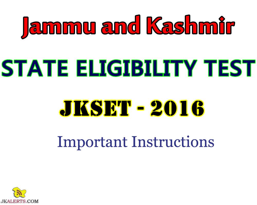 JK SET 2016 important points to remember
