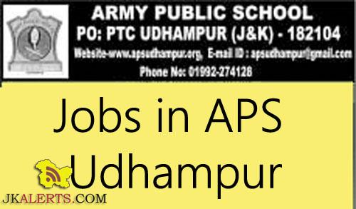 JOBS IN ARMY PUBLIC SCHOOL UDHAMPUR