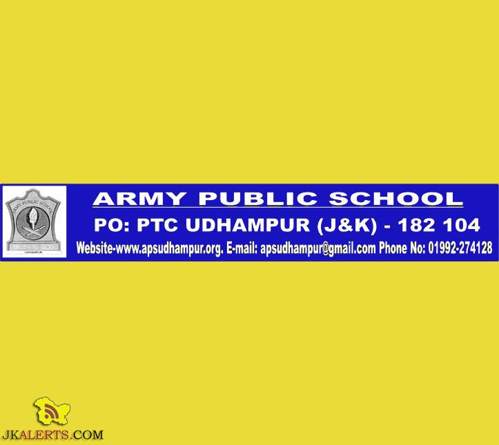 Teaching Jobs in Army Public School, Udhampur, Jobs in APS udhampur