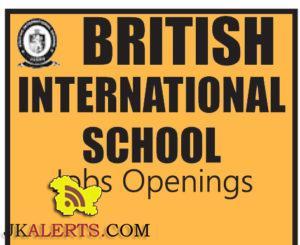 JOBS IN BRITISH INTERNATIONAL SCHOOL