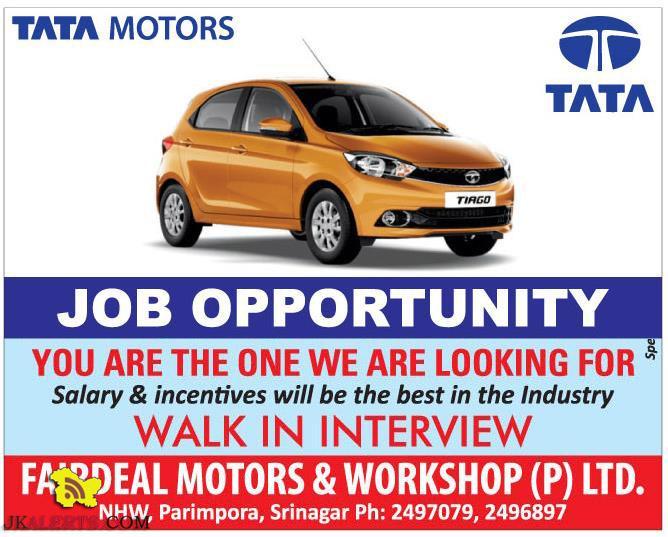 jobs in fairdeal motors tata