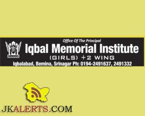 Urdu Teachers jobs in Iqbal Memorial Institute, Private jobs in Srinagar