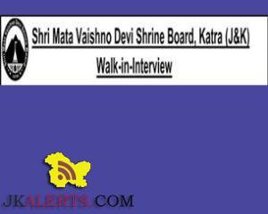 Jobs in Shri Mata Vaishno Devi Shrine Board, Walk-in-Interview for 'Acharya (Jyotish)'