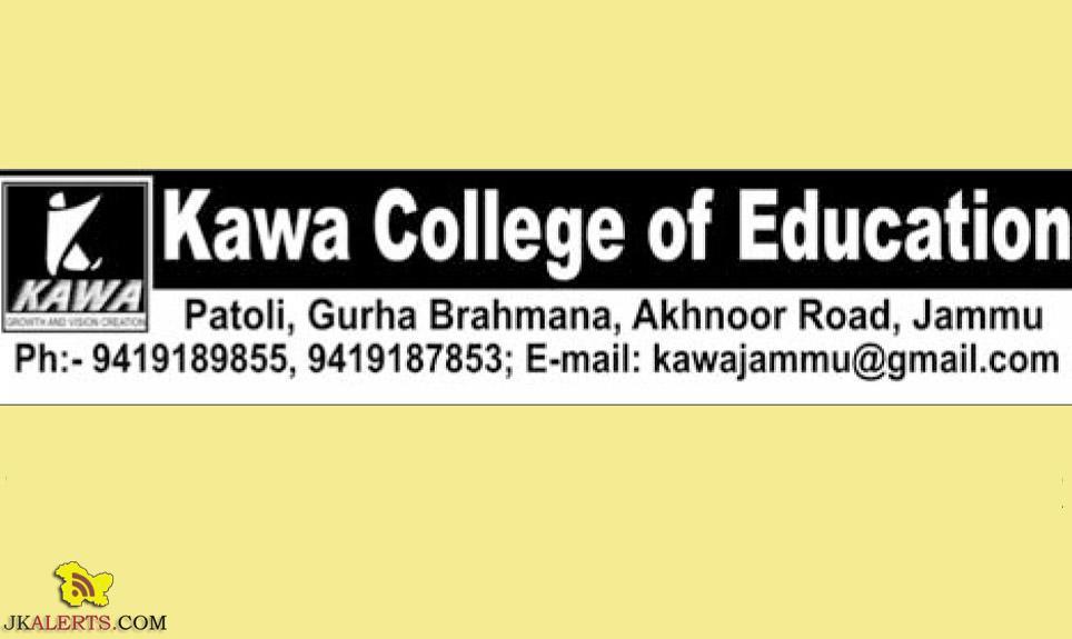 Kawa College of Education Jobs, Kawa College of Education Recruitment 2019, Jammu Jobs, Private jobs