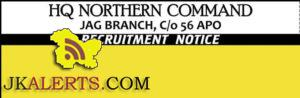 Lower Division Clerk (LDC) Jobs in HQ Northern Command