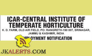 Jobs in Krishi Vigyan Kendra, Baramulla (J&K), ICAR- CITH Srinagar