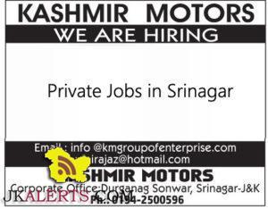 kashmir motors hiring in srinagar