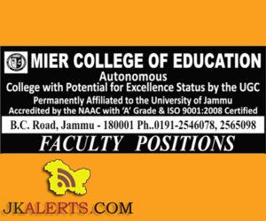 Assistant Professors jobs in MIER College of Education