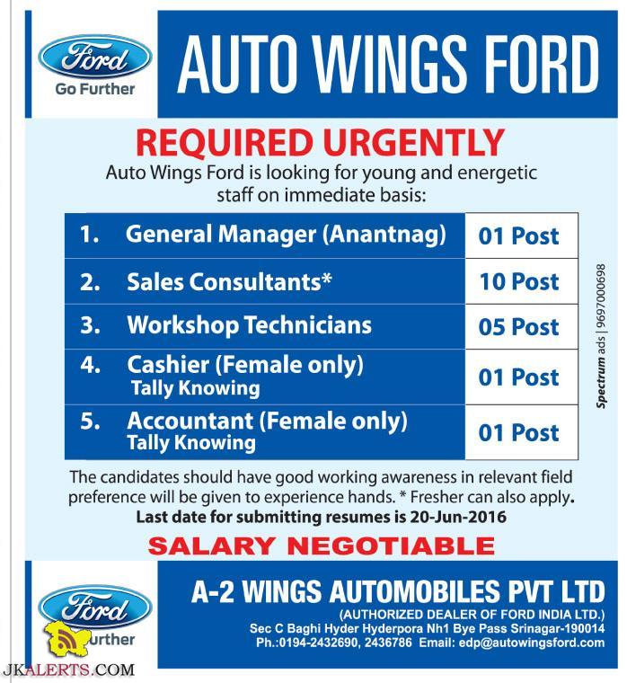 Jobs in Auto Wings Fords