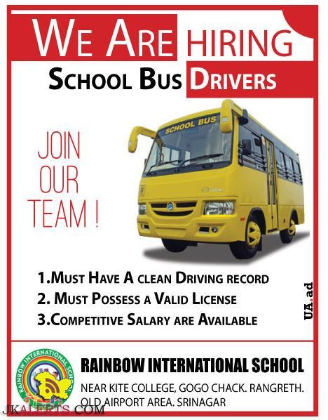 Drivers Jobs in Rainbow international School Srinagar