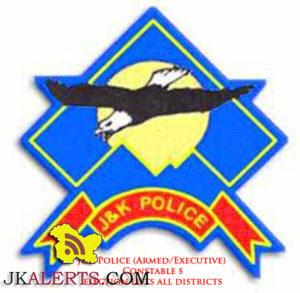 J&K Police (Armed/Executive) Constable selection lists all districts