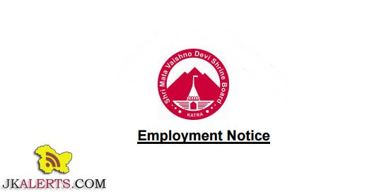 Jr. assistant , Steno-typist, Enforcement Inspector Jobs in Shri Mata Vaishno Devi Shrine Board
