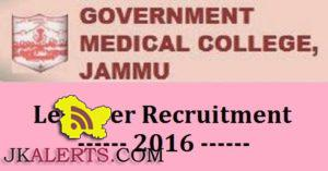 Govt Medical College Jammu Jobs