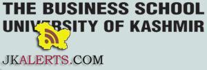 Research Associate, Research Assistant jobs in Business School University of Kashmir