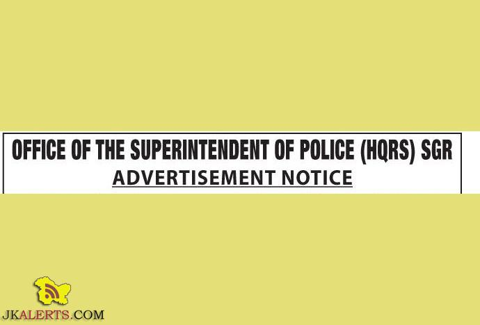 SPOs Jobs in District Police Srinagar