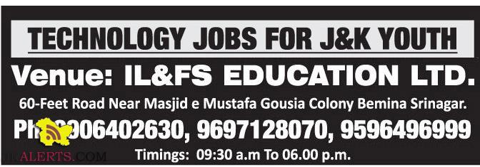 TECHNOLOGY JOBS FOR J&K YOUTH