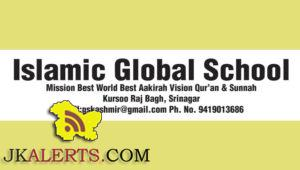 Teaching Jobs in Islamic Global School
