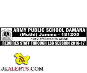 JOBS IN APS DOMANA MUTHI JAMMU