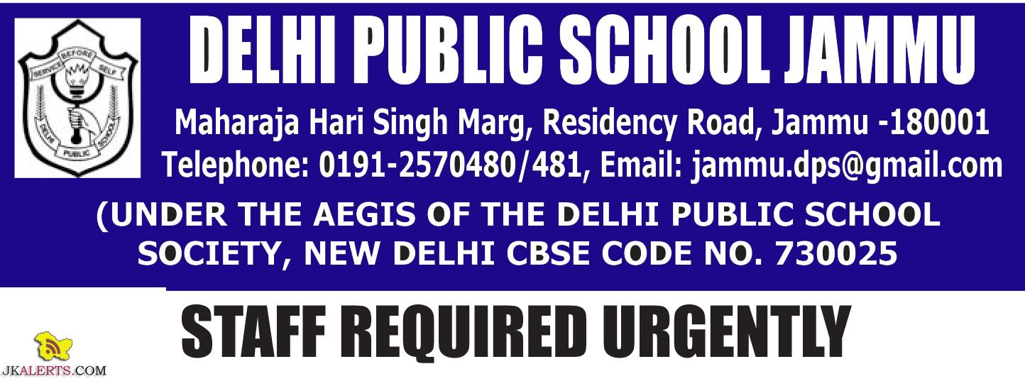 Teaching and Non teaching Jobs in Delhi Public School Jammu