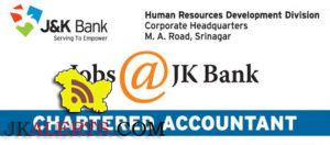 Chartered Accountant Jobs in J&k Bank