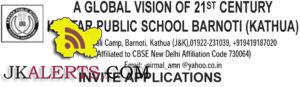 Teaching and Non teaching Jobs in Kartar Public school Kathua