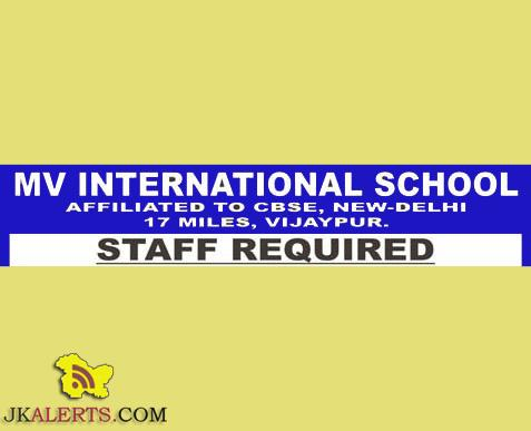 JOBS IN MV INTERNATIONAL SCHOOL