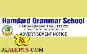 Jobs in Hamdard Grammar School
