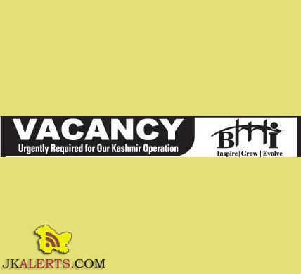 Marketing Executive,Career Counselors, Front Desk Executive, Helper jobs in Srinagar