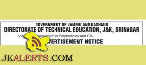 Academic arrangement in Polytechnics and ITIs. Jobs in Technical education