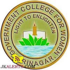 Required substitute teacher in Govt college for women Srinagar