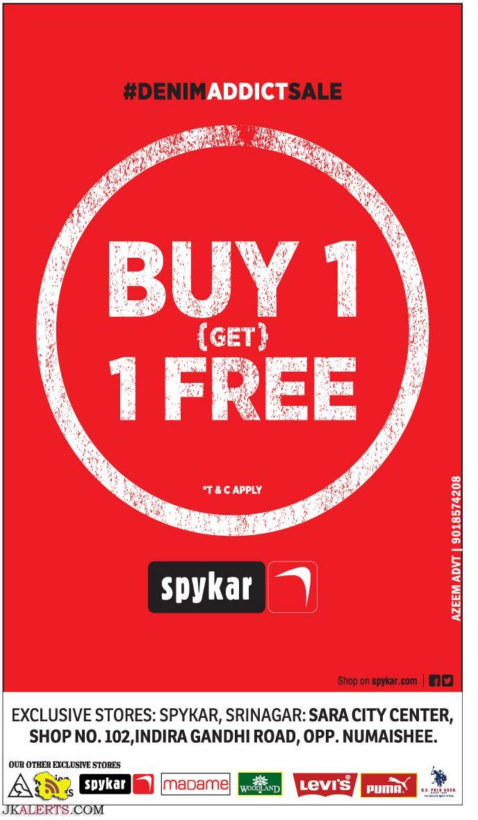 Spykar Sale Offer deal discount in Jammu