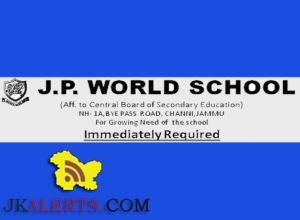 Teaching jobs in J.P World school